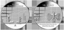 50 Jahre Bundesbank 10 Jägernummer 530 Beutler Münzen Deutschland