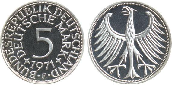 5 Mark Silberadler Komplett Jägernummer 387 Beutler Münzen
