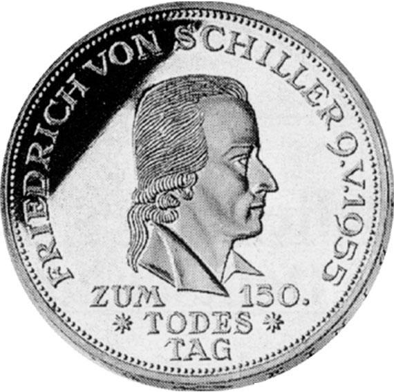 Friedrich Von Schiller 5 Dm Jägernummer 389 Beutler Münzen