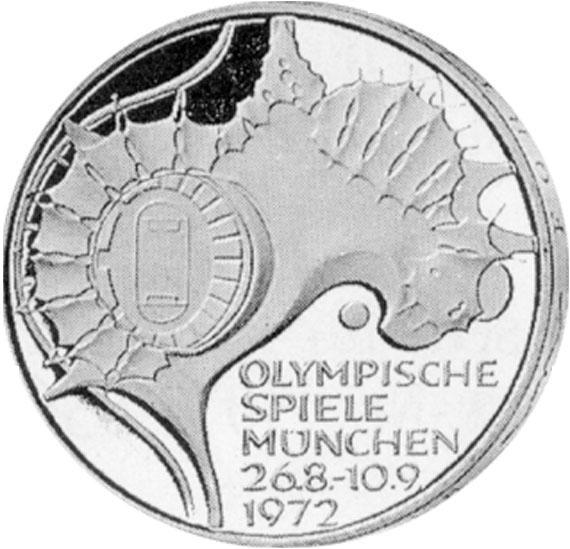 Olympiastadion 10 Dm Jägernummer 404 Beutler Münzen 10 Dm Olympiade