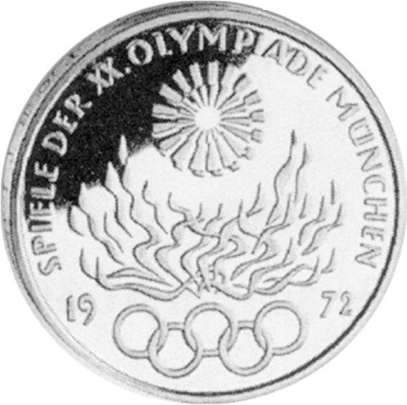 Olympisches Feuer 10 Dm Jägernummer 405 Beutler Münzen 10 Dm