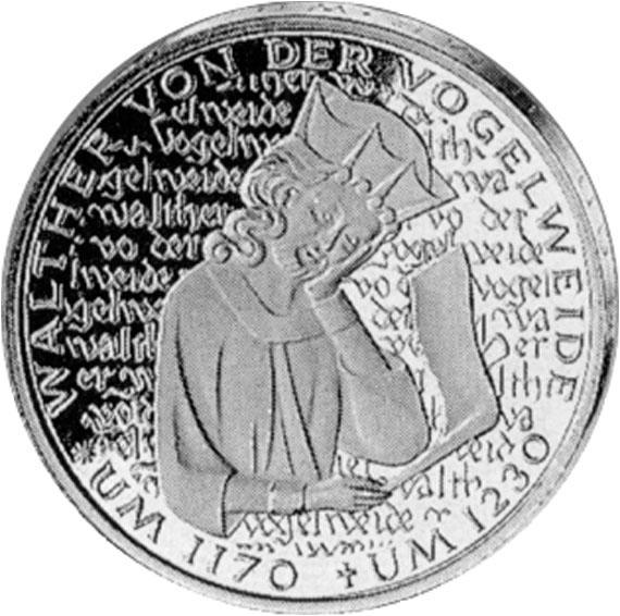 Walther Von Der Vogelweide 5 Dm Jägernummer 427 Beutler Münzen