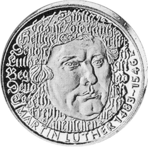 Martin Luther 5 Dm Jägernummer 434 Beutler Münzen Gedenkmünzen 5 Dm