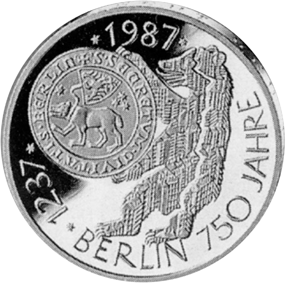 750 Jahre Berlin 10 Dm Jägernummer 441 Beutler Münzen Gedenkmünzen