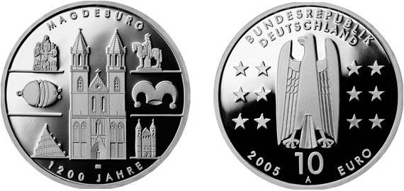 1200 Jahre Magdeburg 10 Jägernummer 515 Beutler Münzen
