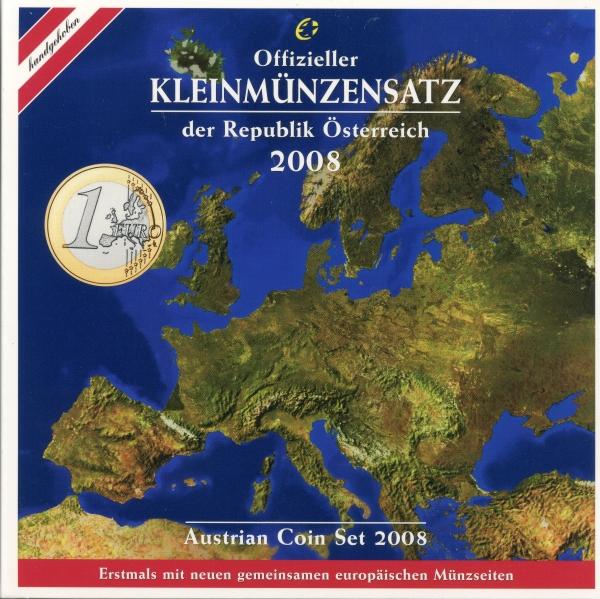 österreich Kursmünzensatz 2008 Beutler Münzen österreich