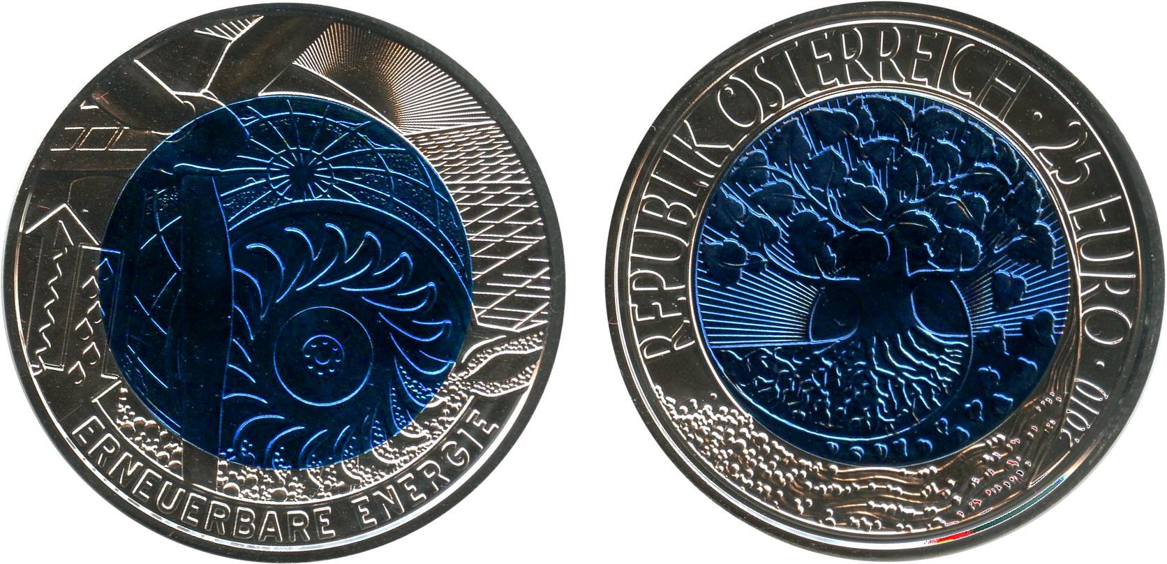 österreich Erneuerbare Energien 25 Euro Beutler Münzen österreich