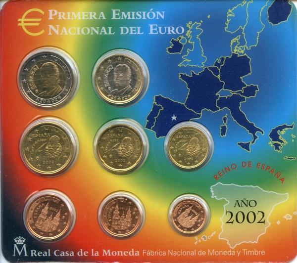 Spanien Kursmünzensatz 2002 Beutler Münzen Spanien Kursmünzensätze