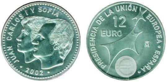 Spanien Eu Ratspräsidentschaft 12 Euro 12 Euro Beutler Münzen
