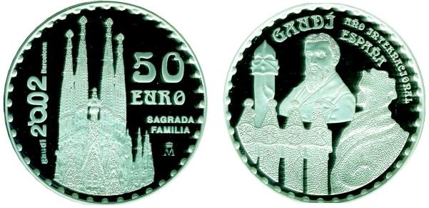 Spanien 150 Geburtstag Von Gaudi Sagrada Familia 50 Euro Beutler