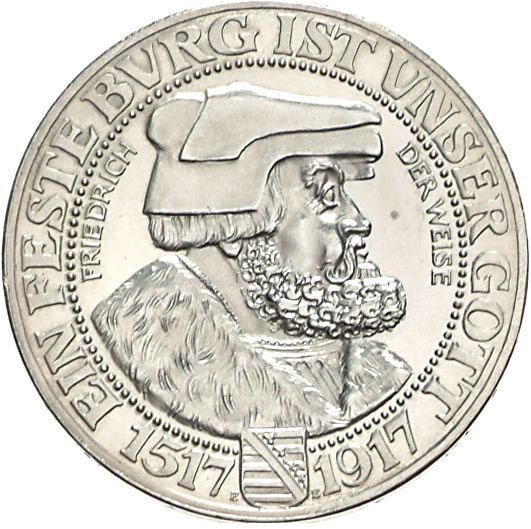 Friedrich Der Weise 3 Mark Jägernummer 141 Beutler Münzen Sachsen