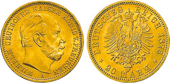 Wilhelm I 20 Mark Jägernummer 246 Beutler Münzen Preussen