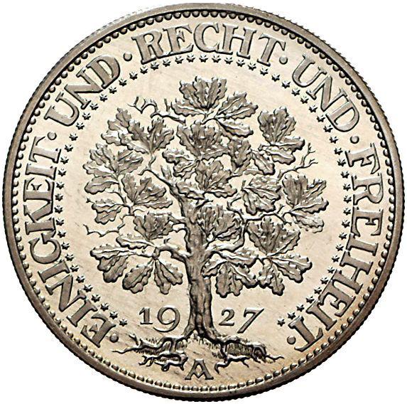 Eichbaum 5 Reichsmark Jägernummer 331 Beutler Münzen Gedenkmünzen