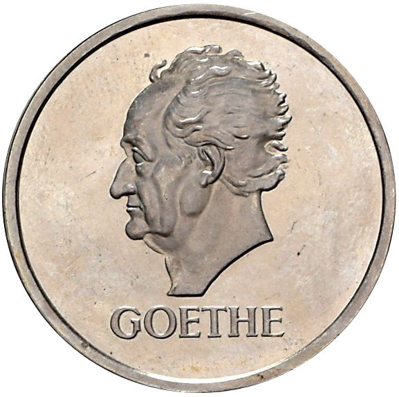 Johann W Von Goethe 5 Reichsmark Jägernummer 351 Beutler Münzen