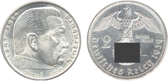 Paul Von Hindenburg 2 Reichsmark Jägernummer 366 Beutler Münzen 3