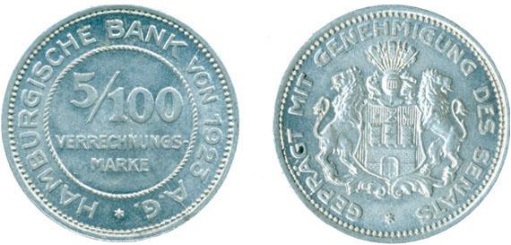 1923 5100 Verrechnungsmarke Jägernummer N36 Beutler Münzen